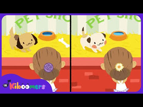 How Much Is That Doggie in the Window | Kindergarten | Education | Spot the Differences | Kiboomers