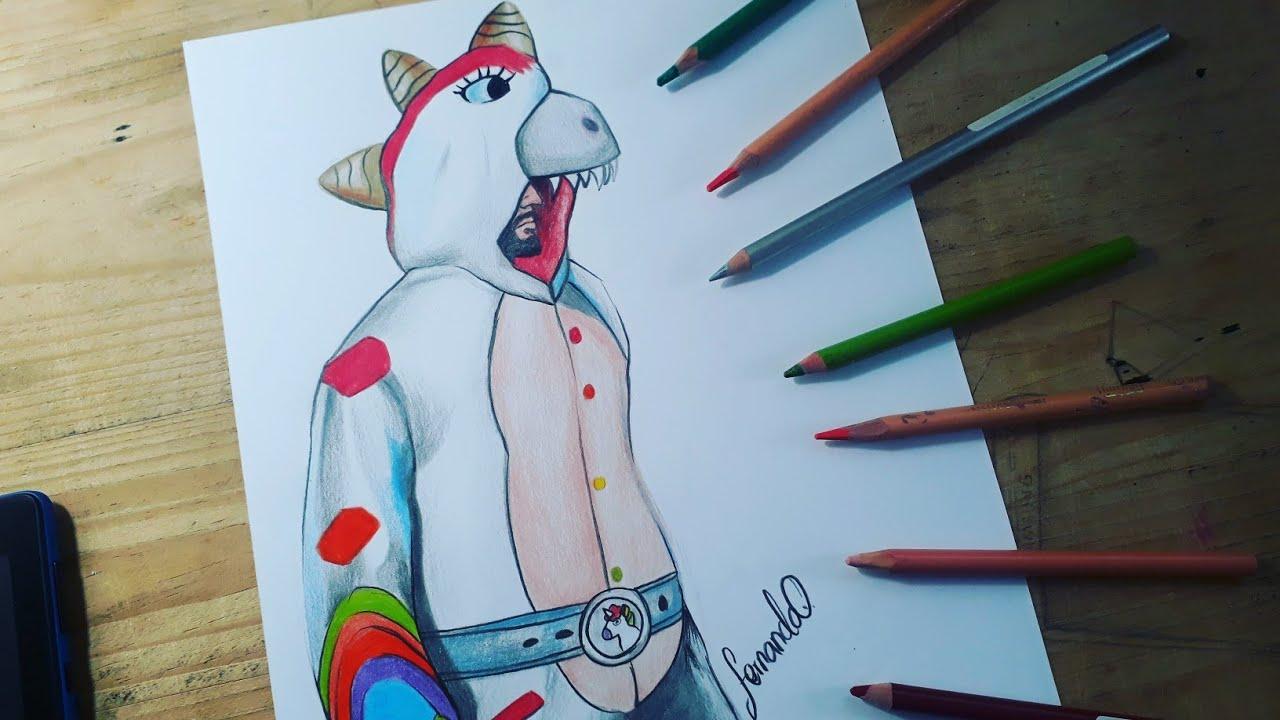 Dibujando La Skin Del Dinocornio Dibujos De Free Fire Youtube