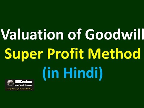 valuation of goodwill super profit method partnership accounting in hindi youtube. Black Bedroom Furniture Sets. Home Design Ideas