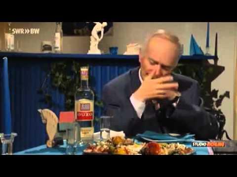 Matthias Richling und Wolfgang Schäuble beim Griechen, Studio Richling! die Bananenrepublik
