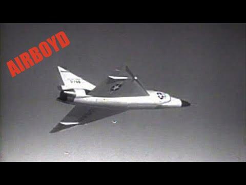 Convair F-102 Delta Dagger Falcon Missile Test (1956)