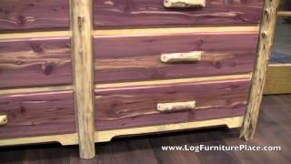 Red Cedar 6 Drawer Log Dresser From Logfurnitureplace.com