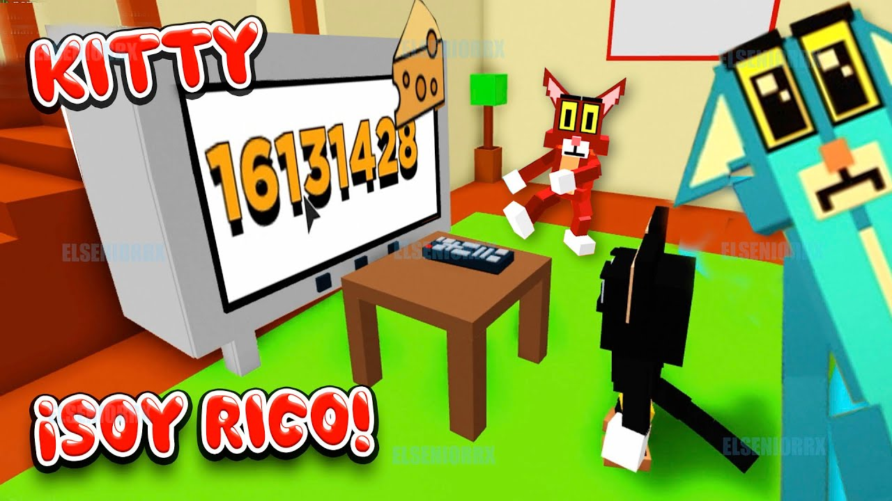 KITTY ¡SOY RICO! HACIENDOME MILLONARIO DE QUESITOS ~ Kitty Roblox ~ ELSENIORRX ROBLOX