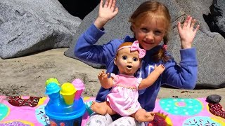 Having Fun with Baby Doll & Ice Cream Sand Molds