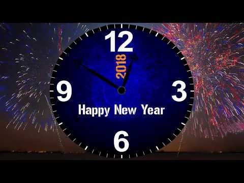 After Effects HAPPY NEW YEAR ..Clock animation