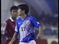 三浦知良 27歳 巧みな足技でDFを交わしてシュート