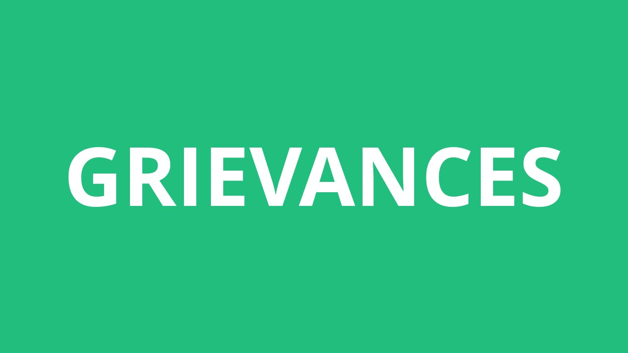 How To Pronounce Grievances - Pronunciation Academy