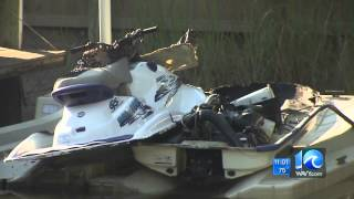 Jason Marks on jet ski explosion in VB