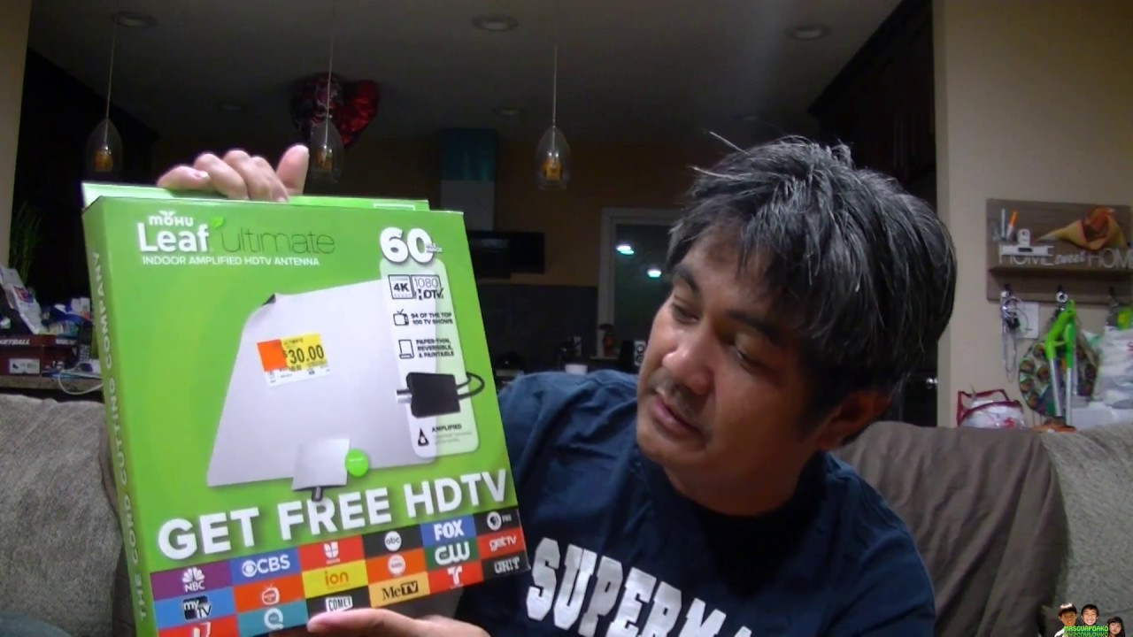 MOHU Leaf Ultimate Amplified Indoor HDTV Test And Review - YouTube