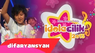 Difa Ryansyah - Hadapi Dengan Senyuman | Pentas Idola Cilik 2013 (Sabtu, 16 Februari 2013)
