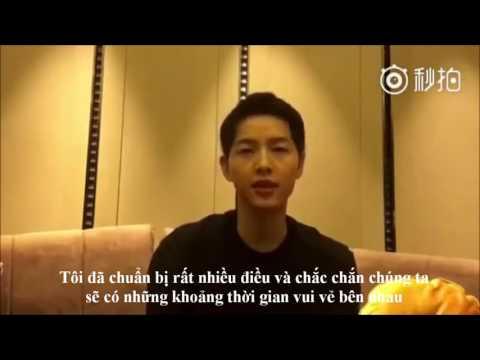 [Vietsub] Song Joong Ki gửi tin nhắn cho fan sau fan meeting Bắc Kinh 14/05/2016