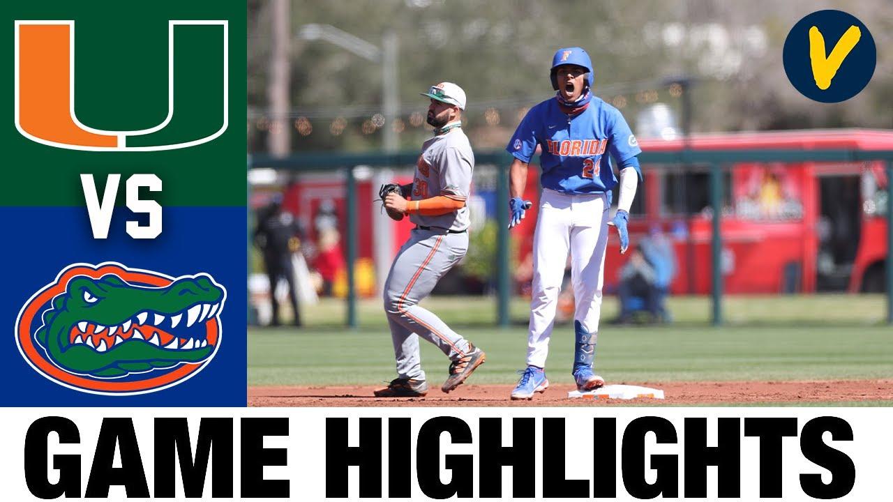 Download #21 Miami vs #1 Florida Highlights   College Baseball Highlights 2021