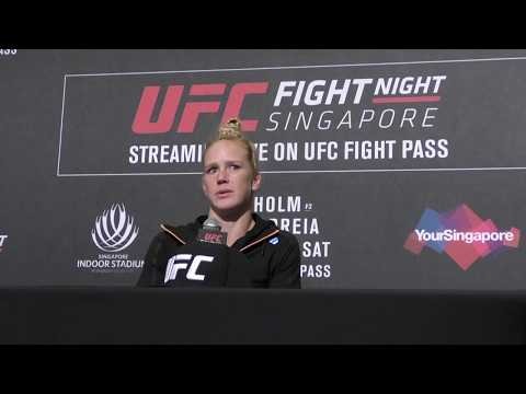 UFC Singapore Holly Holm Post Fight Press Conference