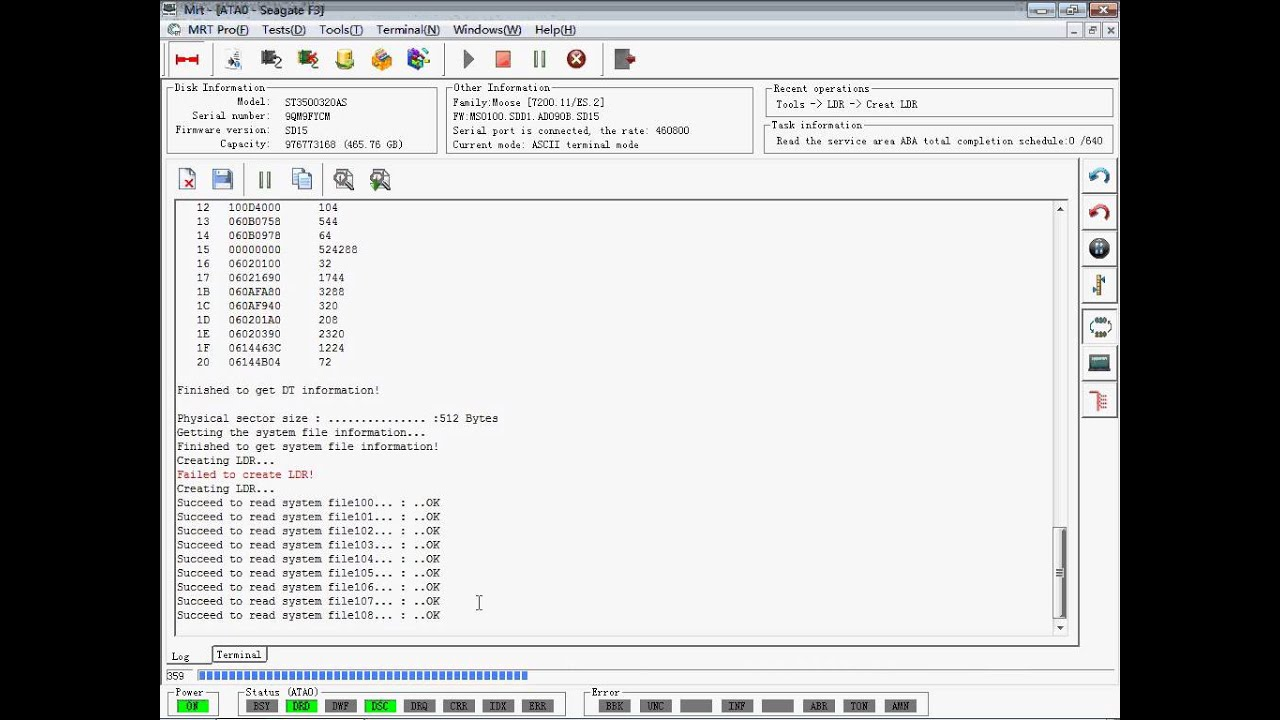 How to use MRT Pro to create LDR and Write LDR on Seagate F3 Hard Drives