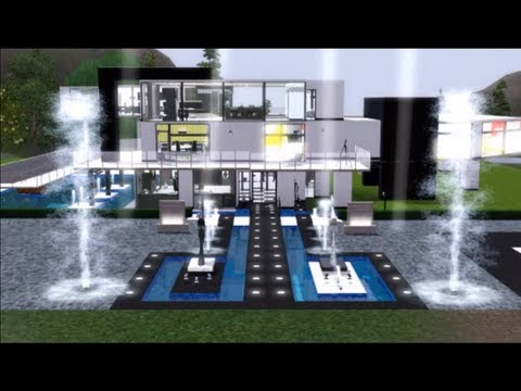Epic modern house sims 3 youtube - The sims 3 case moderne ...
