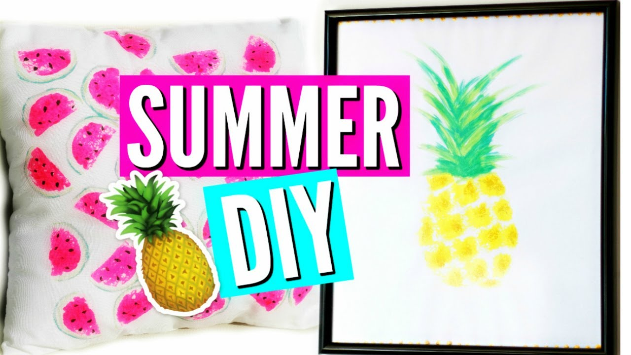 Diy Summer Room Decor Deco Chambre Ete Francais Youtube
