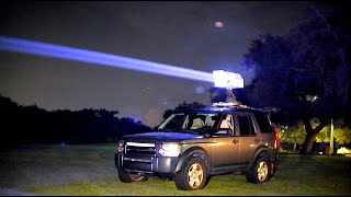 200 Watt car mounted laser!