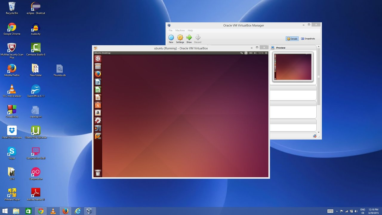 Install Linux Ubuntu on Oracle VirtualBox in Windows 8 / Windows 8 1