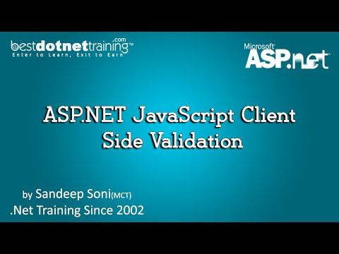 ASP.NET JavaScript Client Side Validation - BDT - ASP.Net Tutorial