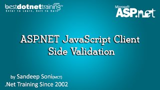 ASP NET JavaScript Client Side Validation BDT ASP Net Tutorial