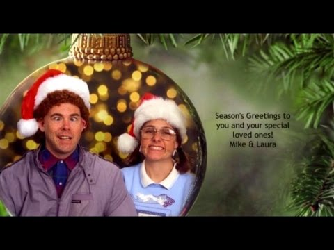 Couple Continues 12 Year Tradition Of Posing For Awkward Christmas Cards