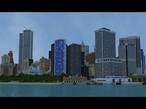 Manhattan in Minecraft- Wall Street, New York (DOWNLOAD)
