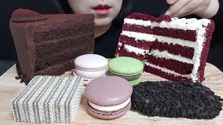 레드벨벳 케이크, 갸또 쇼콜라 케이크, 마카롱, 돼지바…