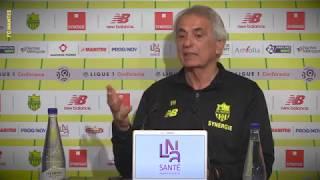 Vahid Halilhodzic avant FC Nantes - Dijon FCO
