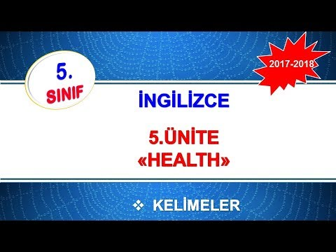 5 Sınıf Ingilizce 5 ünite Health Kelimeleri Youtube
