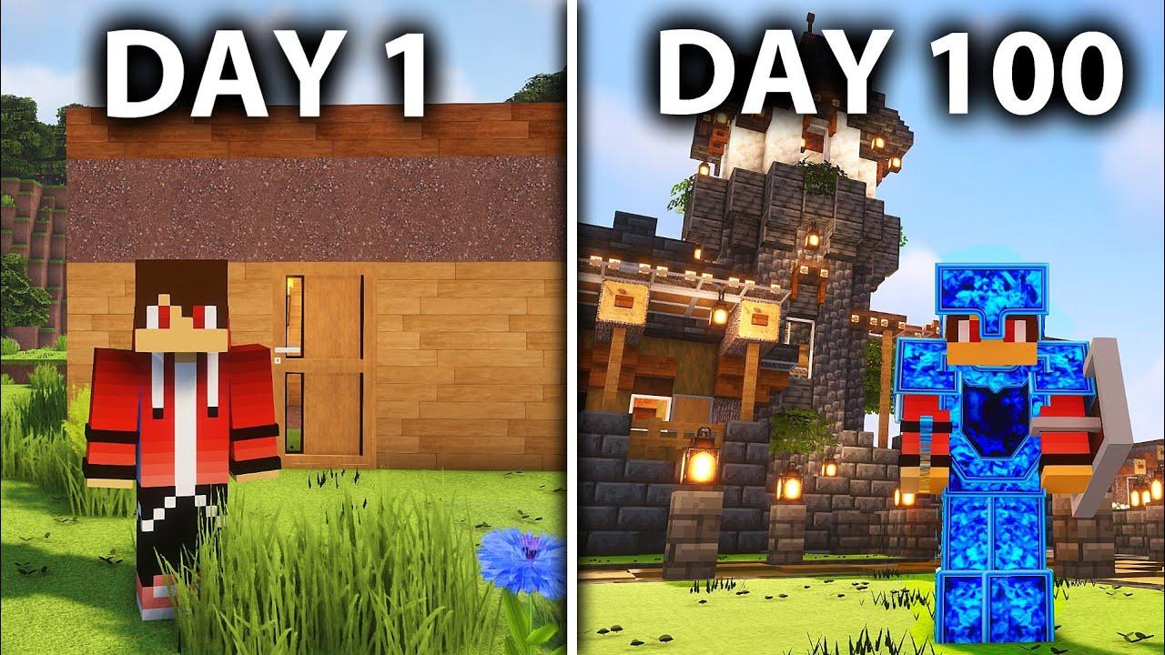 I Survived 100 Days on a Minecraft SURVIVAL World 😱 Minecraft World Tour