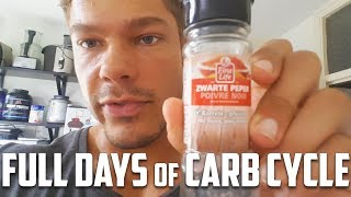 CARB CYCLING Full Days of EATING - Training Chest - Elimating Bloating - 3 Weeks Out