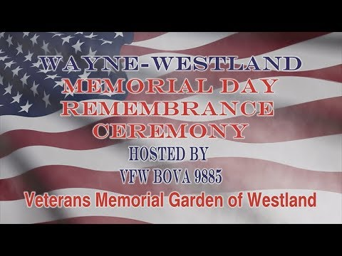 2019 Memorial Day Remembrance Ceremony Vgw Youtube