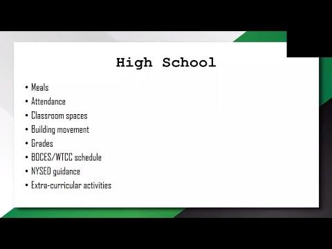 Fall 2020 High School Parent Information Meeting