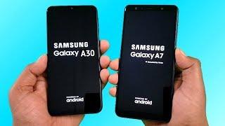 Samsung Galaxy A30 vs Samsung A7 (2018) SpeedTest & Camera Comparison