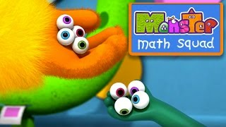 Monster Math Squad | 110 | Monster Bowl Meltdown | Learning Numbers Series