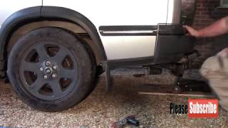 Changing rear suspension air bags on my Landrover Discovery TD5