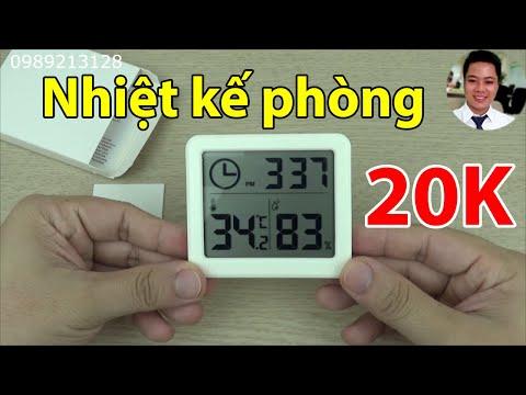Nhiệt kế đo nhiệt độ phòng 3 trong 1 - Máy đo nhiệt độ và độ ẩm phòng