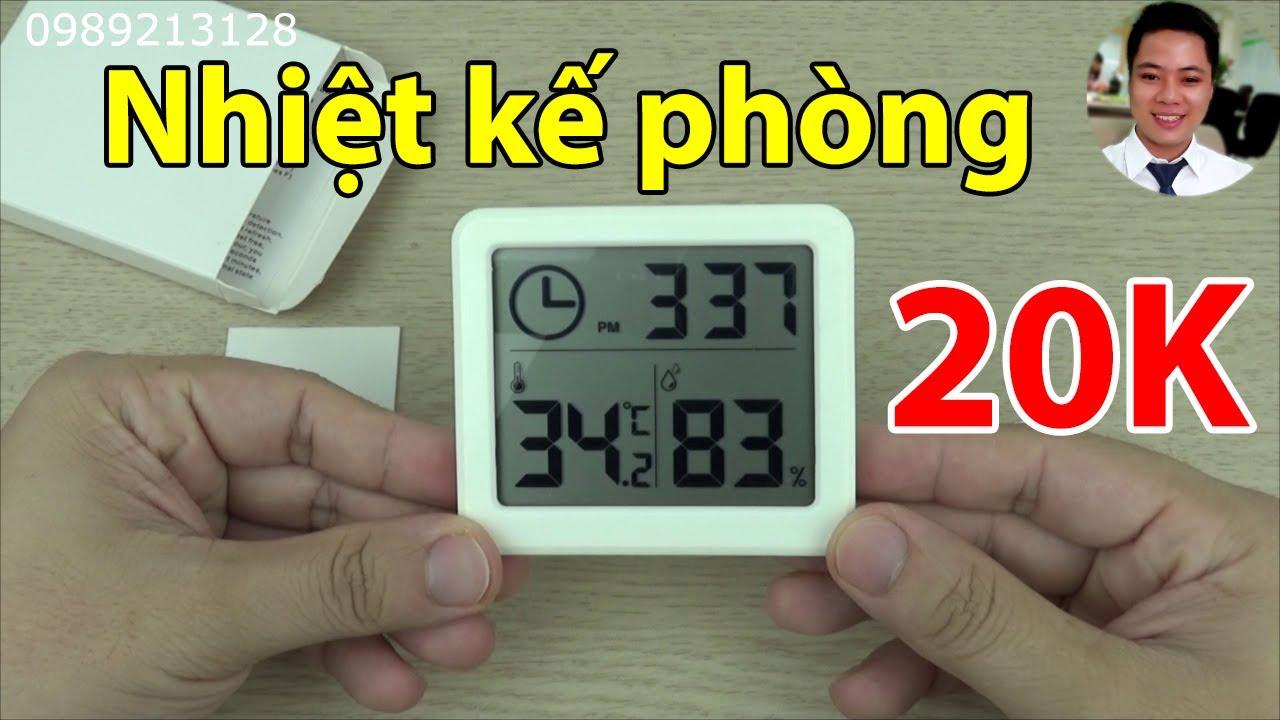 Nhiệt kế đo nhiệt độ phòng 3 trong 1 – Máy đo nhiệt độ và độ ẩm phòng