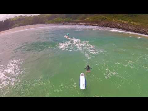 Flying on Kauai's Kahili Beach