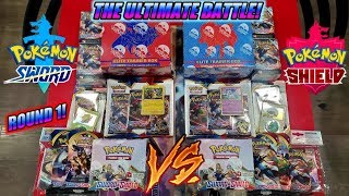 THE ULTIMATE POKEMON CARDS BATTLE! EVERY SWORD AND SHIELD BOOSTER PACK, TRAINER BOX & KIT OPENING!