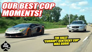 OUR ALL TIME BEST COP MOMENTS ON ACE SPADES RALLY! | COPS VS. SUPERCAR OWNERS COMPILATION