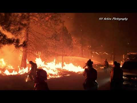 Dixie Fire Activity in Taylorsville and around Westwood on 8/14/2021