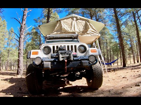 My Jeep TJ roof top tent review