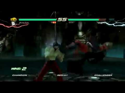 Tekken 6 Knee Bryan Taunt Jet Upper 3 in a row
