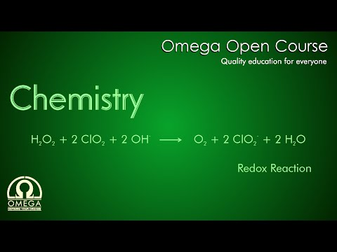 Redox Reaction - Hydrogen Peroxide (H2O2) With Chlorine Dioxide (ClO2) in Basic Medium