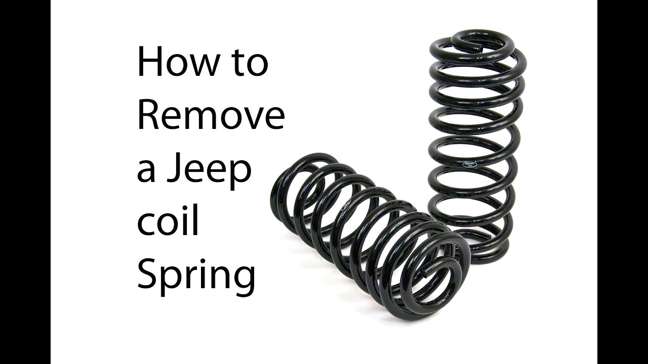 Death Wobble Jeep >> How to remove Jeep coil springs - YouTube