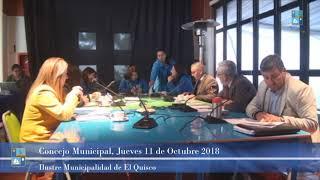 Concejo Municipal Jueves 11 de Octubre 2018 El Quisco