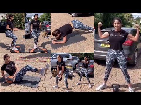 Shilpa Shetty's Hardcore Workout Routine In London