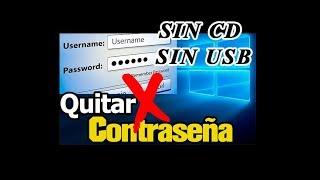 quitar contraseña de windows  8, 8.1, 10 sin cd sin usb