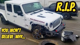 homepage tile video photo for My Jeep Gladiator Rubicon was totaled for a very DUMB reason